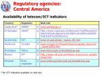 regulatory agencies central america