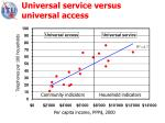 universal service versus universal access
