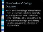 new graduates college outcomes