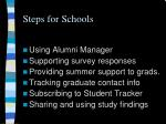 steps for schools
