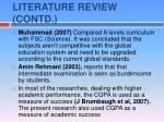 literature review contd7