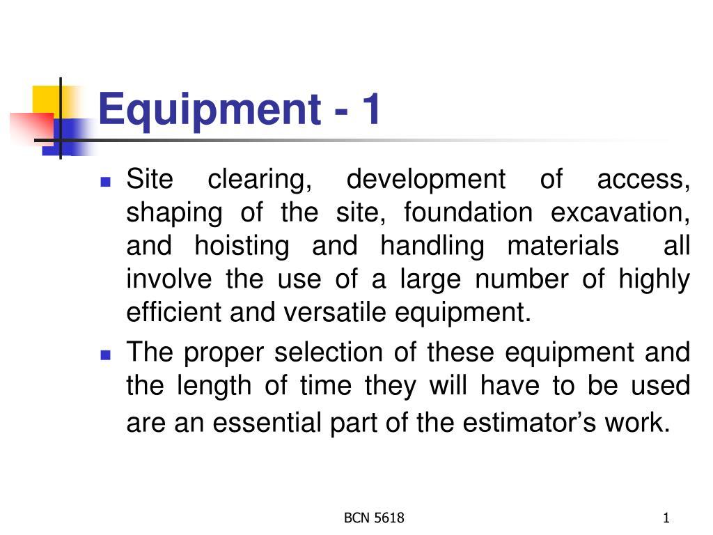 equipment 1 l.