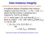 inter instance integrity