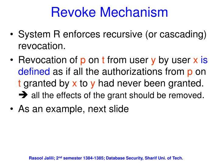 Revoke Mechanism