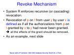 revoke mechanism
