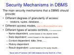 security mechanisms in dbms