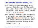 the jajodia sandhu model cont