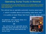 operating dump trucks in reverse27