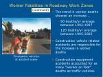 worker fatalities in roadway work zones