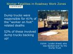 worker fatalities in roadway work zones11