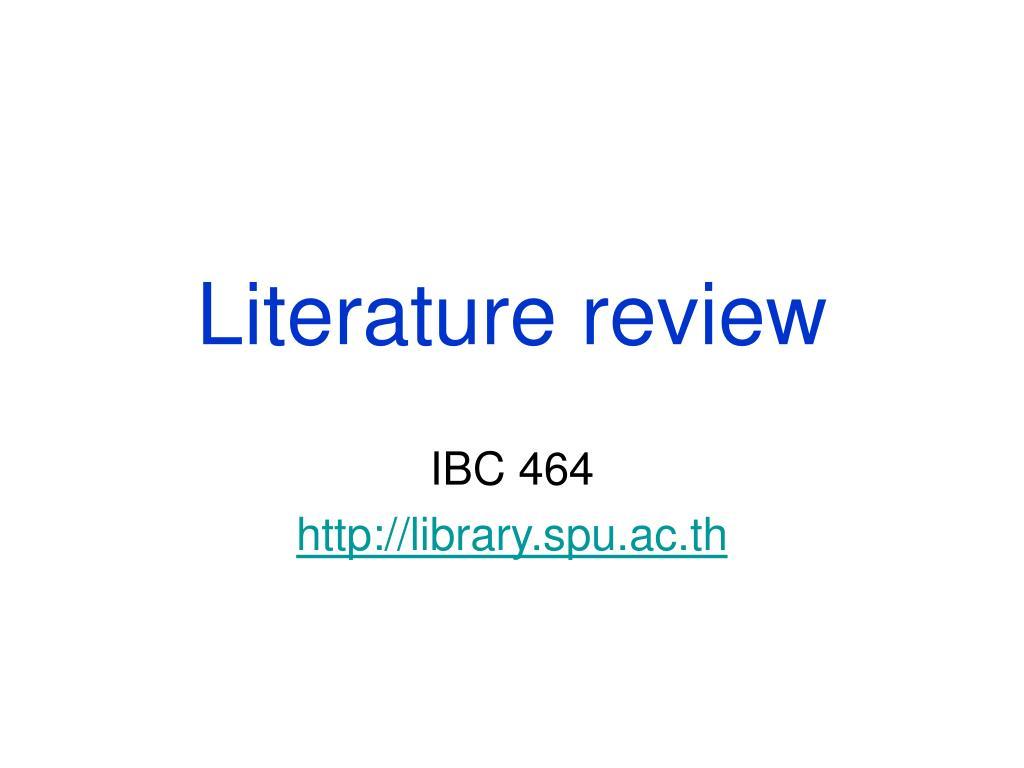 literature review l.