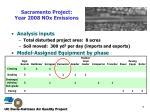 sacramento project year 2008 nox emissions
