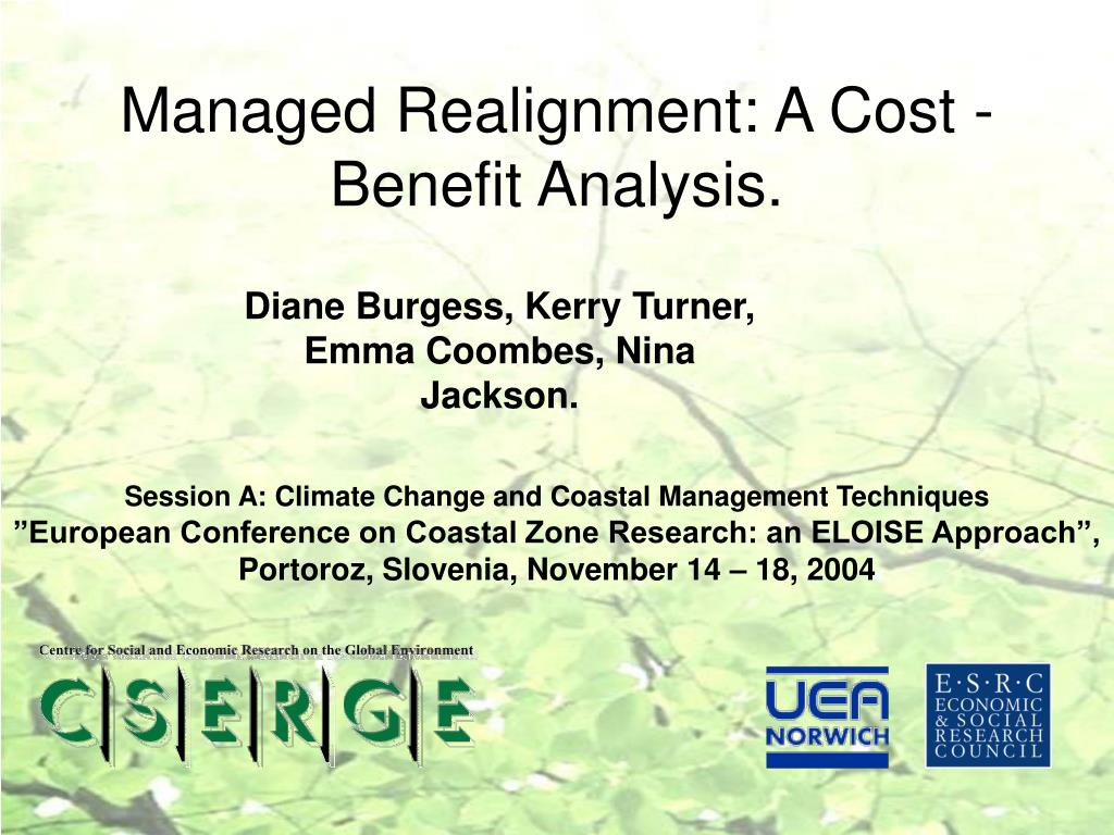 managed realignment a cost benefit analysis l.