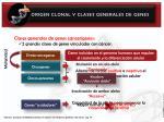 origen clonal y clases generales de genes5