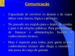 comunica o