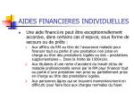 aides financieres individuelles