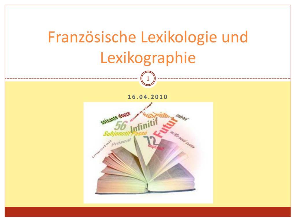 franz sische lexikologie und lexikographie l.
