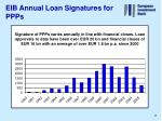 eib annual loan signatures for ppps