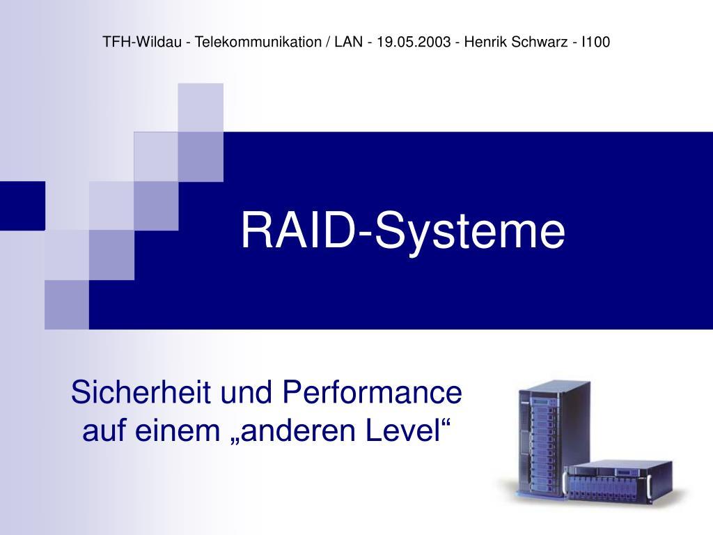 raid systeme l.
