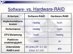 software vs hardware raid