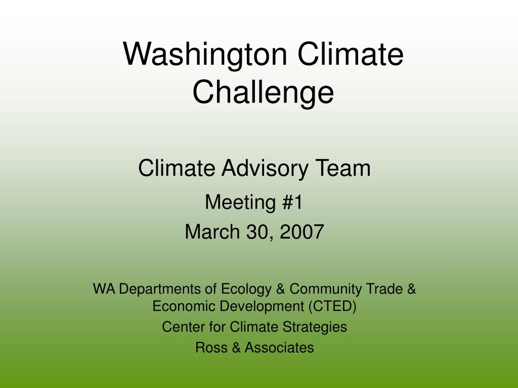 washington climate challenge l.