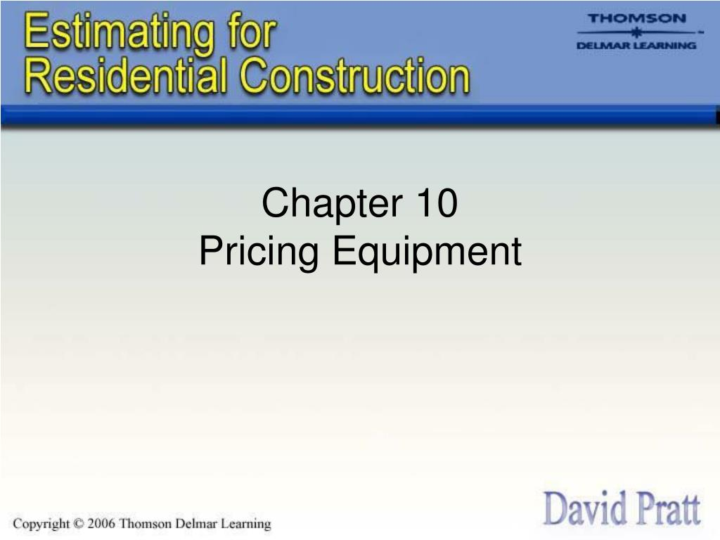 chapter 10 pricing equipment l.