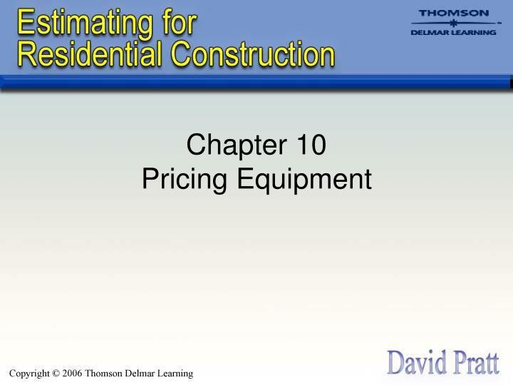 Chapter 10 pricing equipment