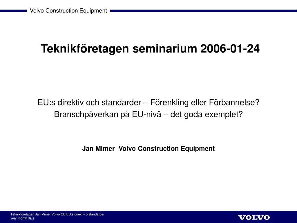 teknikf retagen seminarium 2006 01 24 l.