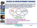 enjeux du developpement durable