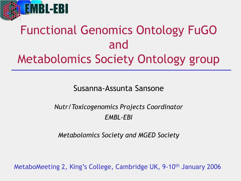 functional genomics ontology fugo and metabolomics society ontology group l.