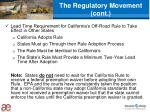 the regulatory movement cont
