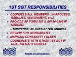 1st sgt responsibilities