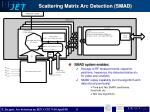 scattering matrix arc detection smad6