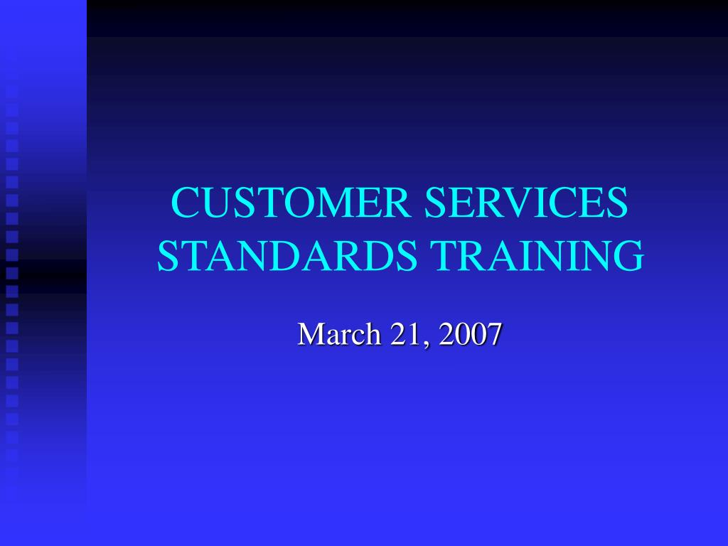 customer services standards training l.