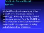 medicaid mental health services
