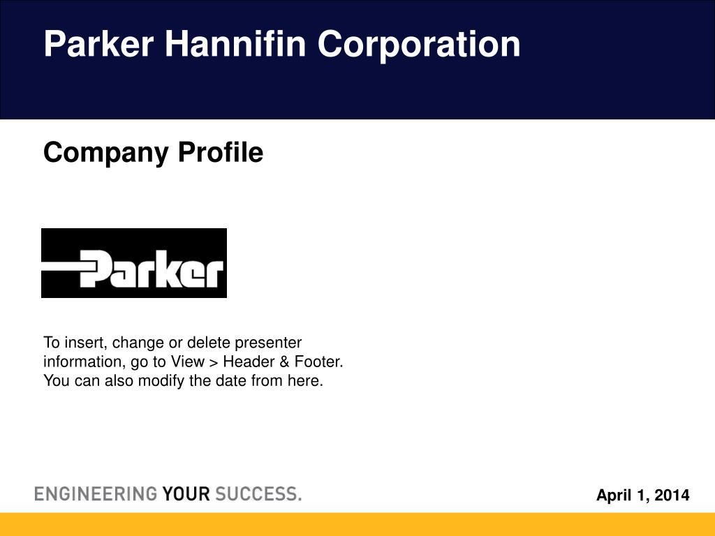 parker hannifin corporation l.