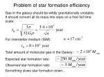 problem of star formation efficiency