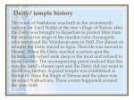 deity temple history41