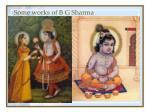some works of b g sharma