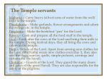 the temple servants31