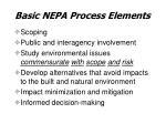 basic nepa process elements