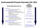 environmental process overview for ces