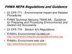 fhwa nepa regulations and guidance