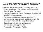 how do i perform nepa scoping