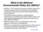 what is the national environmental policy act nepa