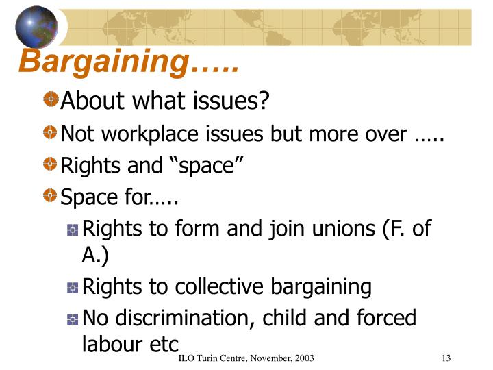Bargaining…..