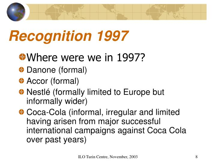 Recognition 1997