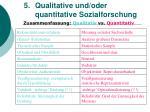 5 qualitative und oder quantitative sozialforschung27