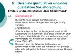 6 beispiele quantitativer und oder qualitativer sozialforschung33
