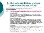 6 beispiele quantitativer und oder qualitativer sozialforschung45
